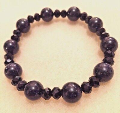 - Handmade Genuine Blue Goldstone Bracelet