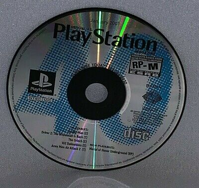 Official Playstation Magazine January 2001 Demo Disc Only