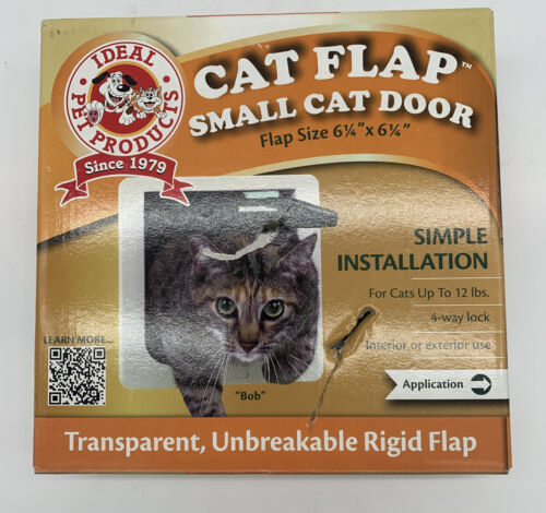 Ideal Pet Products 6.25-by-6.25-Inch Lockable Cat Flap with
