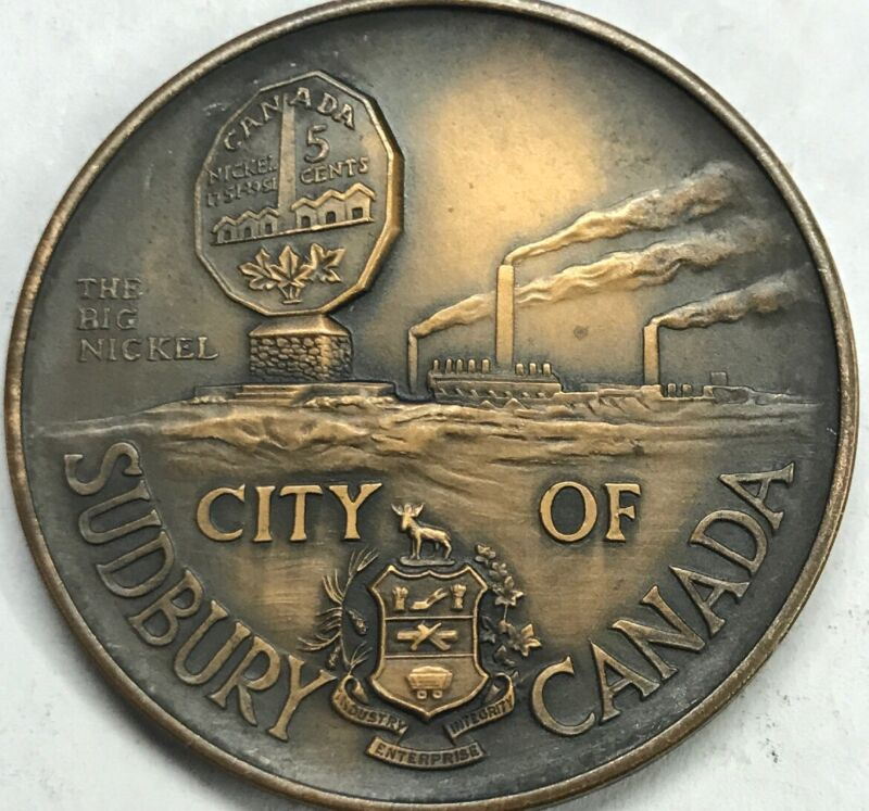 City of Sudbury Canada Medal Bronze