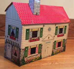 Vintage Child's Tin Doll House