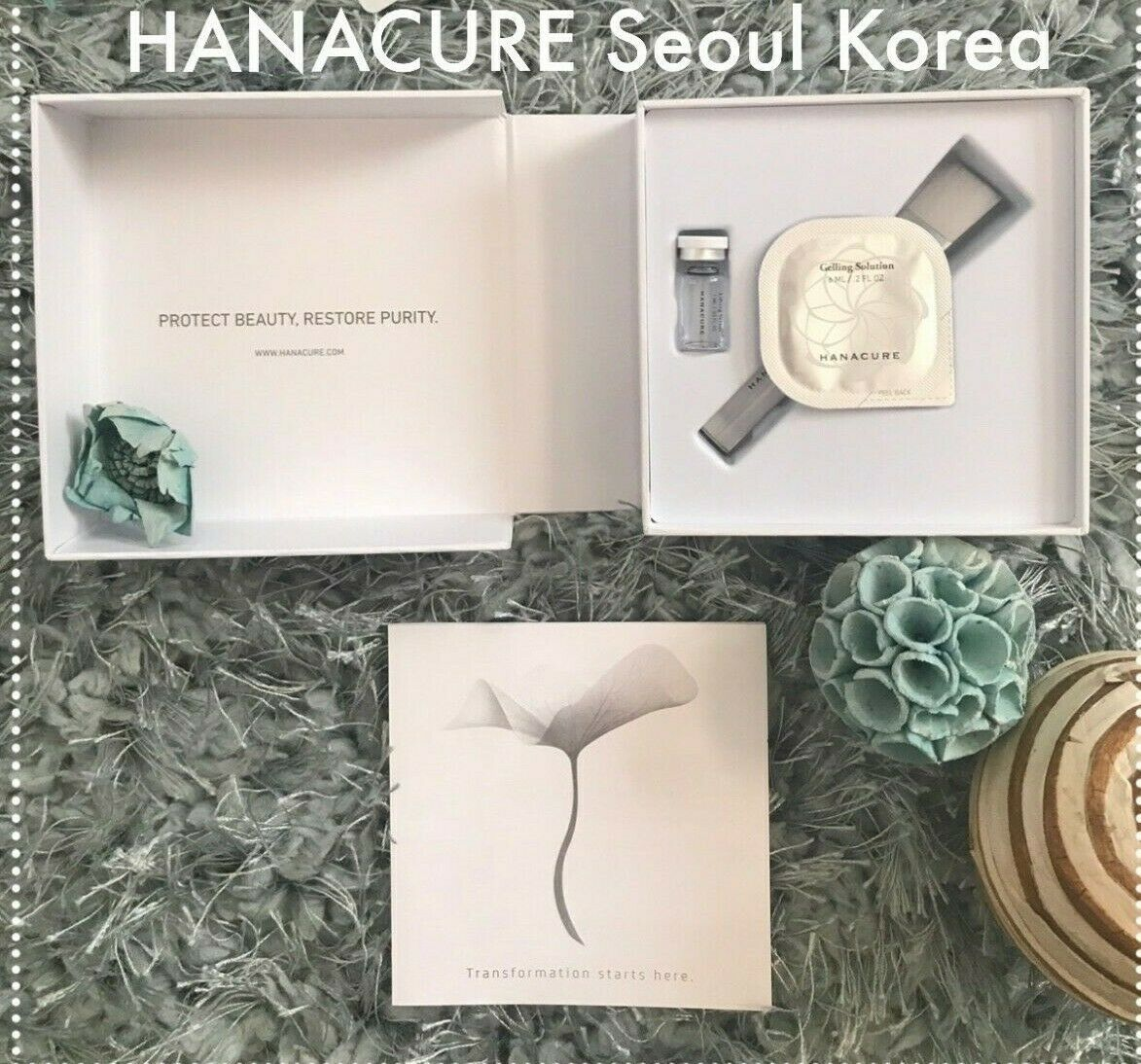 HANACURE face mask Seoul Korea- STARTER KIT  ~  NEW ~ FAST S