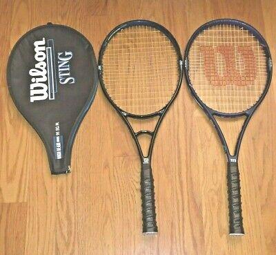 a6211116fa Wilson Sting 95 7.0 si & Graphite Aggressor 95 8.5 si Tennis Racquets New  Grips