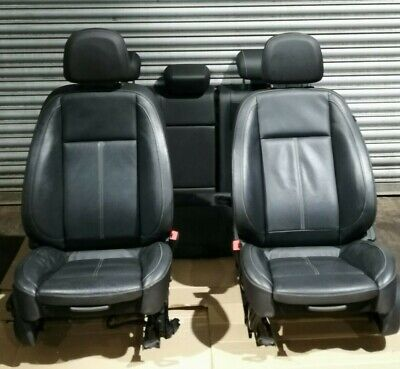 Vauxhall Astra J MK6 Complete Front Left Right Rear Black Leather Seats