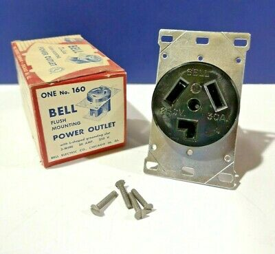 RALCO RECEPTACLE W// HINDGE COVER 3 PRONGE 321-F 30 AMP USED