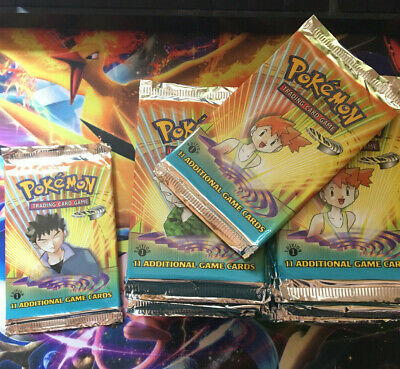 1 x Pokemon 1st Edition Gym Heroes Booster Pack - Fresh Box Break and Unweighed