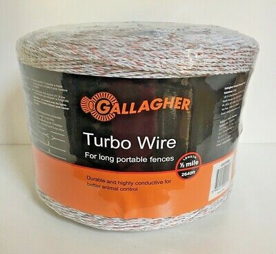 Gallagher Turbo Wire 2640 12 Mile Long Portable Electric Fence Farm New