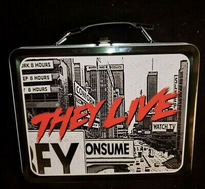 THEY LIVE! - Large Tin Tote / Metal Lunch Box / Classic 1980 Roddy Piper Movie ()