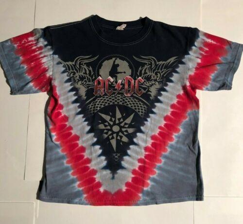 AC/DC  BLACK ICE WORLD TOUR 2008-09 SHIRT, MEDIUM, DATES ON BACK