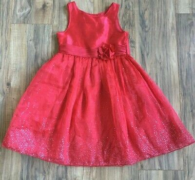 Little Girls 6X Youngland Red Dress Holiday Christmas