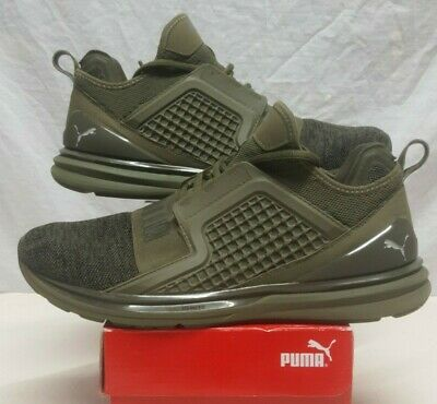 PUMA IGNITE LIMITLESS KNIT TRAINERS OLIVE GREEN SIZE 10.5 EUR 44 WORN ONCE