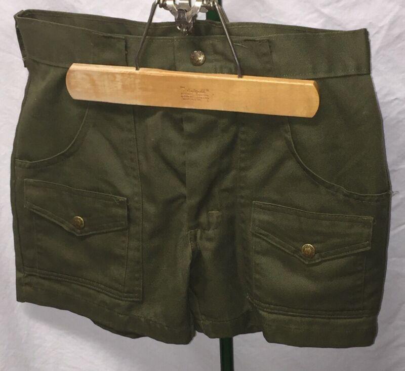 "Vintage Boy Scout Uniform - Shorts - Boys Size 30""x13.5"" Snaps On Pockets BSA"
