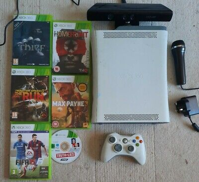 Xbox 360 Console 60GB with Kinect Sensor and Games Bundle