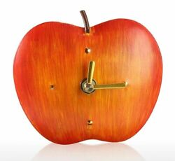Wall Clock Metal Iron Home Creative Decoration Apple Designed Room Accent Decors