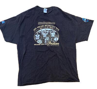 Rare Vintage Indian Motorcycle Days 2014 Men's Brown T-Shirt Size 2XL HTF AMA
