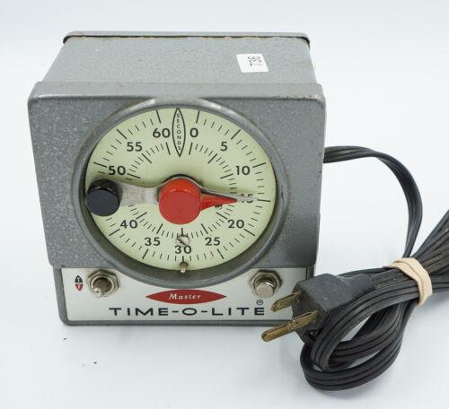 Master Time-O-Lite M-72 Darkroom Timer - Works, Tested #736