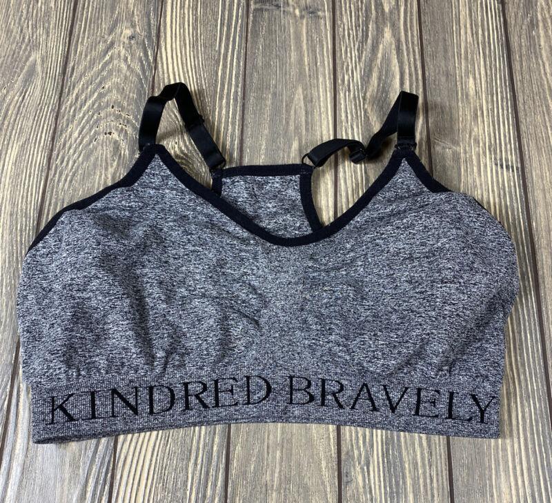 Kindred Bravely Womens Gray Black Heather Nursing Bra