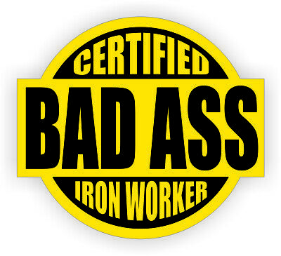 Sticker CIW-17 ironworker with skulls and flames