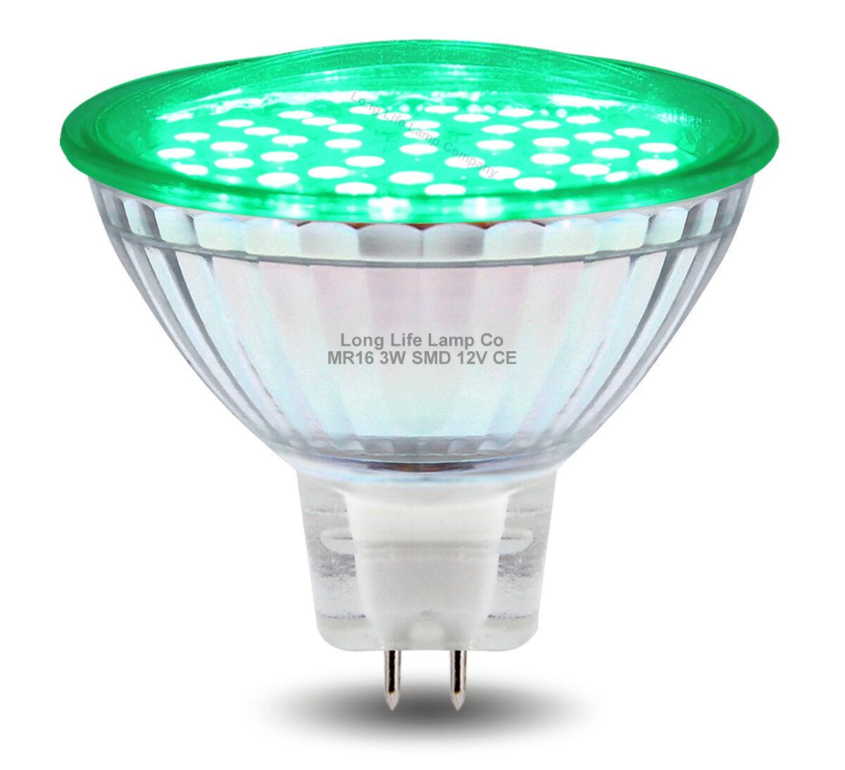 RED GREEN BLUE Yellow 12V LED MR16 Low Voltage Light Bulb GU5.3 ...