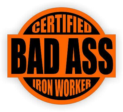 hard hat stickers hardhat stickers IRON WORKER CIW-6