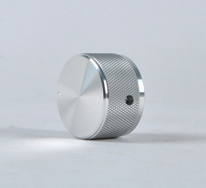 1PCS Aluminum knurled silver 38*22 DAC/Amplifier solid volume potentiometer knob