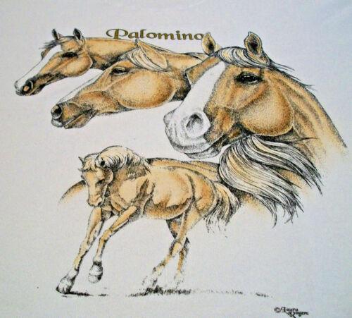 """Palomino Horse T-shirt  """" White """" 2XL ( 50 - 52 )"""
