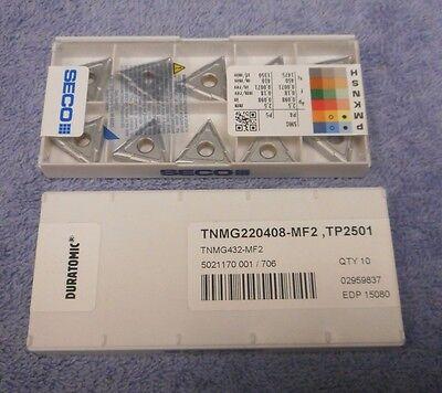 Seco DCMT21.52-F2 TP2500 Factory Pack 10 Pieces!