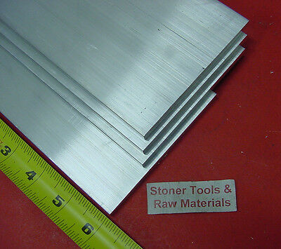 4 Pieces 14x 4 Aluminum 6061 Flat Bar 6 Long T6511 Plate Extruded Mill Stock