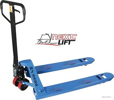 Pallet Jack - Hand Truck 27 X 48 5500 Lb Cap New 1-year Cheap Freight Shipping