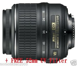 *USA STOCK* Nikon Nikkor 18-55mm f/3.5-5.6G AF-S DX VR 1 Year Warranty UV BUNDLE