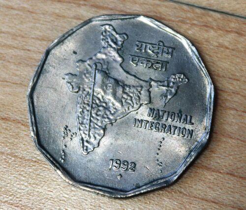 1992 B India 2 Rupees