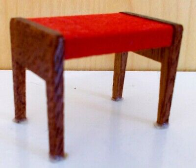 LUNDBY DOLLHOUSE VERY VINTAGE PIANO BENCH #7132:  LAST ONE!