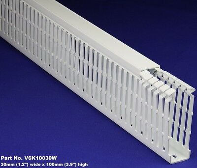 1 Set - 1x4x2m White High Density Premium Wiring Duct Cover Ulcecsa Listed