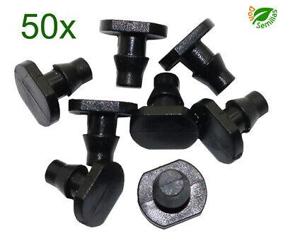50x Tapon (4mm) final de cierre para tubo - tuberia de 4...