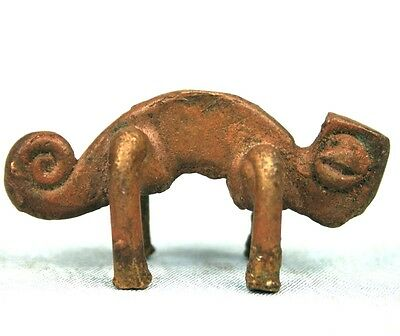 Art African Tribal - Antique Chameleon Lobi - Coin of Divination - 5 CMS
