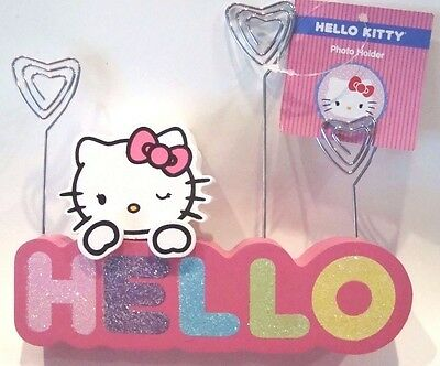 Hello Kitty Photo Holder Picturememonote Holder - Rainbow Colors Hello - New