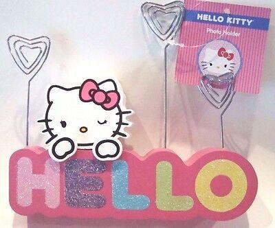Hello Kitty Photo Holder Picturememonote Holder - Rainbow Colors Hello - New