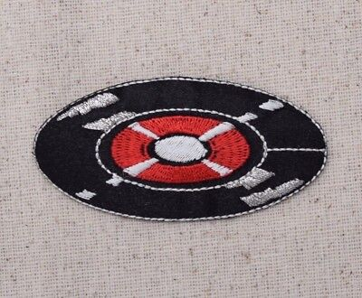 Record/Album - 50's Black/Red LP Music - Iron on Applique/Embroidered Patch