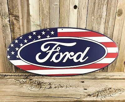 Oval Usa Flag (Ford 20