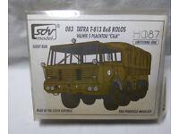 Schwerlastzugmaschine Bausatz HO SDV Modell 10195 TATRA 813 8 x 8 KOLOS orange