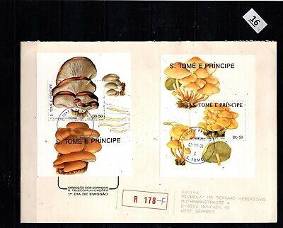 / S. T. PRINCIPE 1990 - R-FDC - MUSHROOMS - FLORA