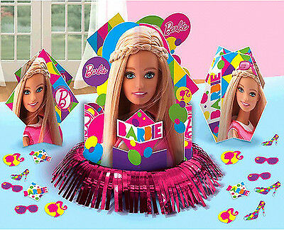 Barbie Sparkle Table Decorating Kit Birthday Party Supplies Central Piece ~ 23pc - Barbie Birthday Supplies