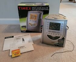 Timex T618T AM/FM Radio CD Player with Alarm Clock Snooze Nature Sounds - Tested
