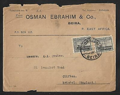 MOZAMBIQUE COMPANY TO UK MULTIFRANKED COVER 1931 27 STAMPS