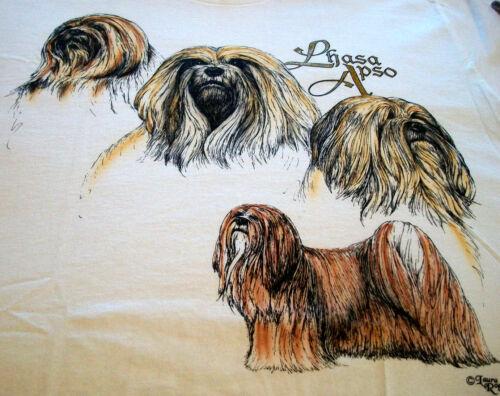 "Lhasa Apso T-shirt  "" White "" XL ( 46 - 48 )"