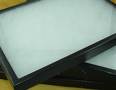 Two Jewelry Display Cases Riker Mount Collectors Frame Box Shows 12 X 16 78 New