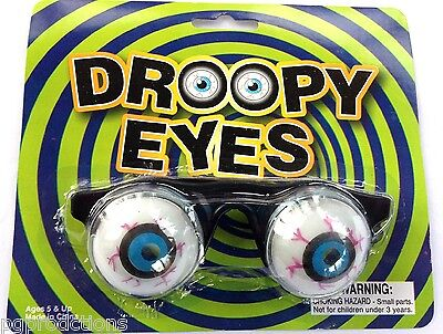 Slinky GOOFY SPRING EYES Droopy Clown Nerd Joke Glasses Funny Bloodshot Eyeball - Funny Eyeball Glasses