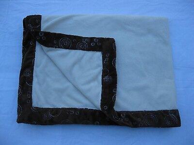 George Cream Embroidered Circles Brown Trim Soft Baby Crib Blanket 30x40 Walmart