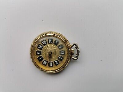VINTAGE CHANCELLOR DE LUXE MANUAL WIND ORNATE FOB WATCH FOR SPARES OR REPAIRS