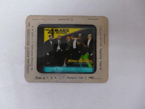 The 4 Marx Bothers Monkey Business Original Movie Glass Slide Magic Lantern 1931